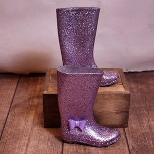 Other - Purple Glitter Sparkly Tall Rain Boots